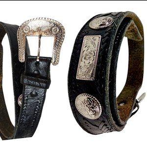 Vintage Leather Concho Western Belt*
